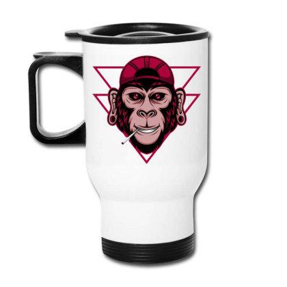 Chimpanzee Travel Mug Designed By Dhiart