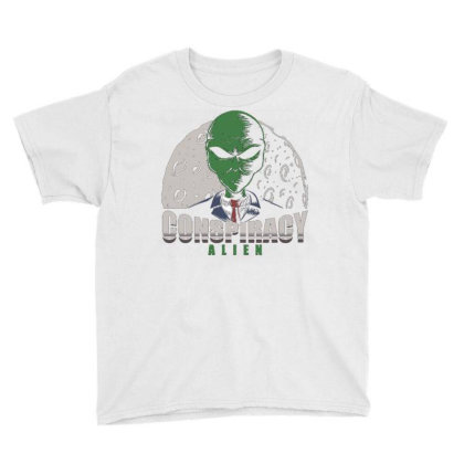 Conspiracy Alien Youth Tee Designed By Dhiart