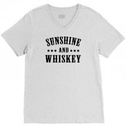 sunshine & whiskey V-Neck Tee | Artistshot