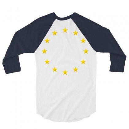 Euro Flag Stars 3/4 Sleeve Shirt Designed By Sabriacar