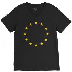 euro flag stars V-Neck Tee | Artistshot