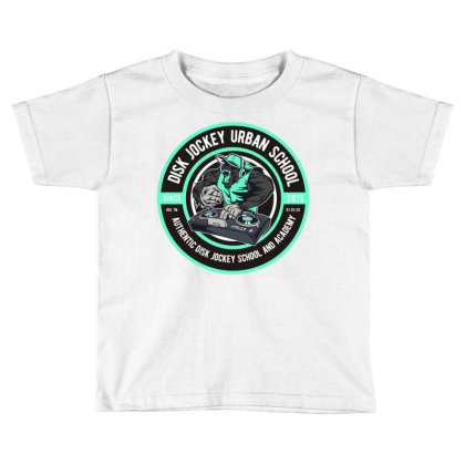 Disk Jockey Urban School Toddler T-shirt Designed By Dhiart