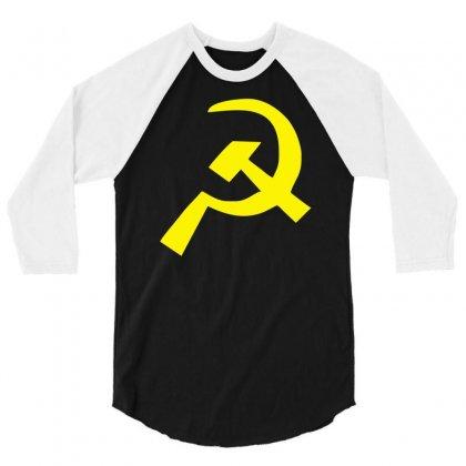 Hammer & Sickle Communist 3/4 Sleeve Shirt Designed By Henz Art