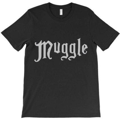 Muggles Men Black Shirt T-shirt Designed By Welcome12