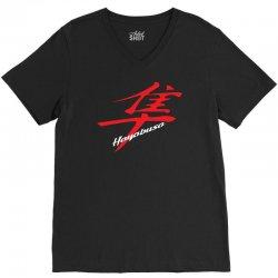 hayabusa kanji logo V-Neck Tee | Artistshot