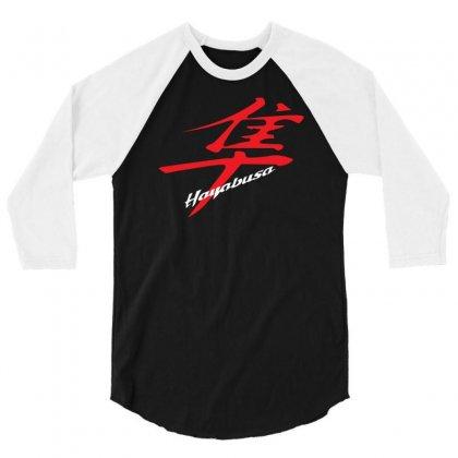 Hayabusa Kanji Logo 3/4 Sleeve Shirt Designed By Henz Art