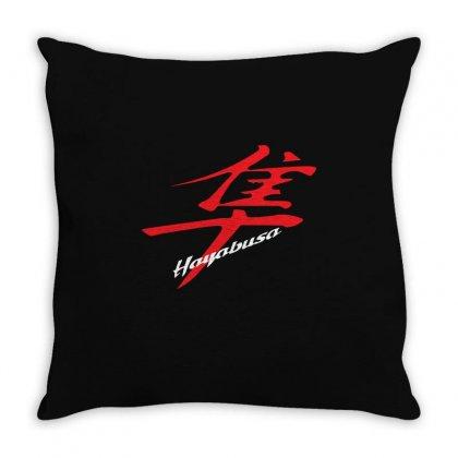 Hayabusa Kanji Logo Throw Pillow Designed By Henz Art