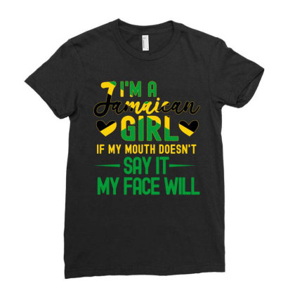 Jamaica Girls Ladies Fitted T-shirt Designed By Cogentprint