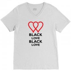 Black Love V-Neck Tee   Artistshot