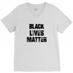 Black Lives Matter V-Neck Tee   Artistshot