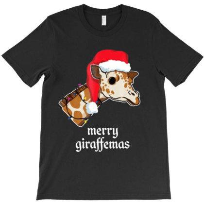 Akita Global Cute Funny Giraffe Merry Christmas T Shirt T-shirt Designed By Welcome12