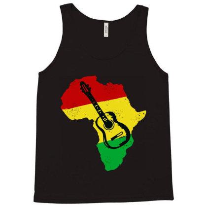 Africa Reggae Guitar Tank Top Designed By Swan Tees