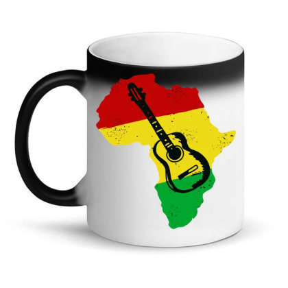 Africa Reggae Guitar Magic Mug Designed By Swan Tees