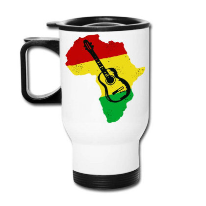Africa Reggae Guitar Travel Mug Designed By Swan Tees