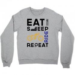 Eat Sleep Ride Repeat Crewneck Sweatshirt   Artistshot
