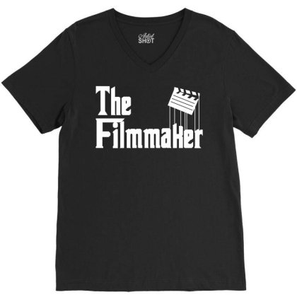 The Filmmaker V-neck Tee Designed By Fahmifutri