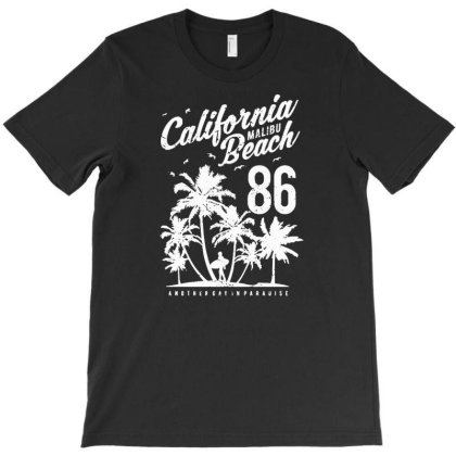 California Malibu Beach T-shirt Designed By Jameszestrada