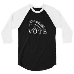 blue nami 2020 politics 3/4 Sleeve Shirt   Artistshot