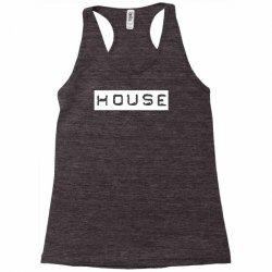 house club,dance,music,vinyl,rave,dj,cool,funny Racerback Tank   Artistshot
