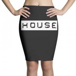 house club,dance,music,vinyl,rave,dj,cool,funny Pencil Skirts   Artistshot