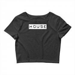 house club,dance,music,vinyl,rave,dj,cool,funny Crop Top   Artistshot