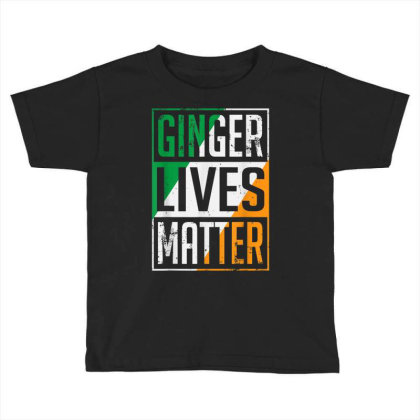 Ginger Lives Matter Irish Flag Toddler T-shirt Designed By Koopshawneen