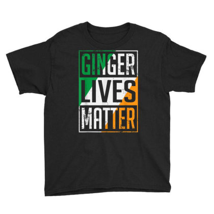 Ginger Lives Matter Irish Flag Youth Tee Designed By Koopshawneen