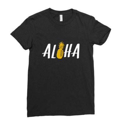 Aloha Pineapple Ladies Fitted T-shirt Designed By Blackstone