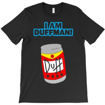I Am Duff Man Homer Cult Funny Retro T-shirt Designed By Henz Art