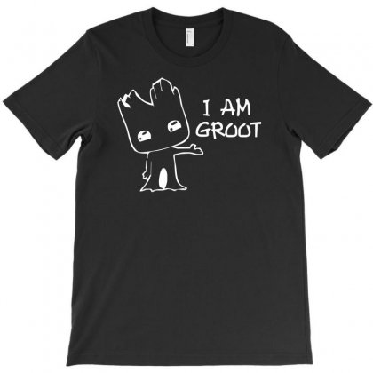 I Am Groot' Guardians Of The Galaxy Movie Funny Baby Groot T-shirt Designed By Henz Art