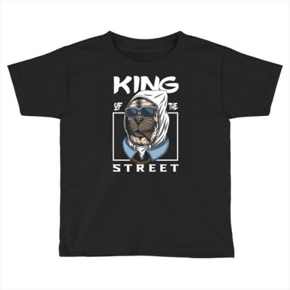 Pug Dog King Of The Street Toddler T-shirt Designed By Dhiart