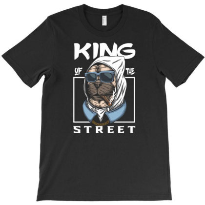 Pug Dog King Of The Street T-shirt Designed By Dhiart