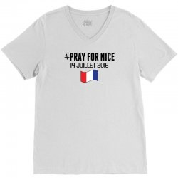 Pray For Nice V-Neck Tee   Artistshot