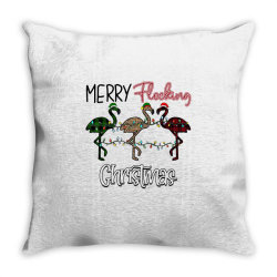 Merry Flocking Christmas Throw Pillow Designed By Bettercallsaul