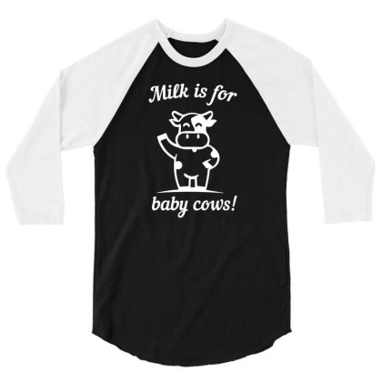 Ow Vegan Saying Animal Welfare 3/4 Sleeve Shirt Designed By Ismi