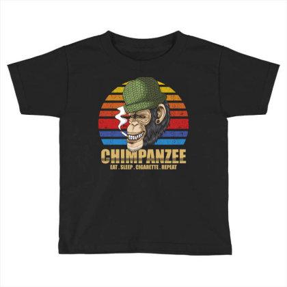 Chimpanzee Toddler T-shirt Designed By Grafixbychawki