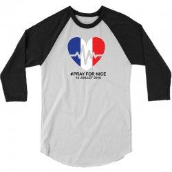 Pray For Nice 3/4 Sleeve Shirt | Artistshot