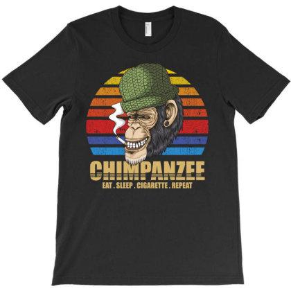 Chimpanzee T-shirt Designed By Grafixbychawki