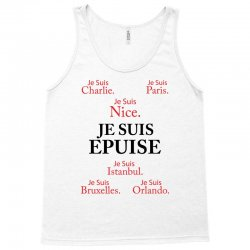 Je Suis Epuise Tank Top | Artistshot