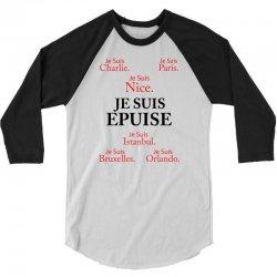 Je Suis Epuise 3/4 Sleeve Shirt | Artistshot