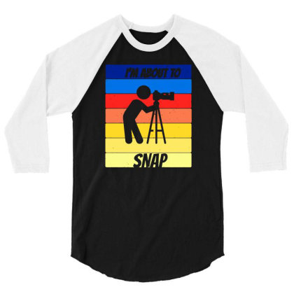 Camera For People Who Like Camera And Photography 3/4 Sleeve Shirt Designed By Fanshirt