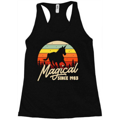 Magical Since 1983 Bday Party Racerback Tank Designed By Fanshirt