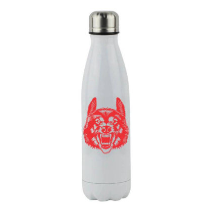 Wolf Stainless Steel Water Bottle Designed By Estore