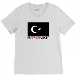 Pray For Turkey V-Neck Tee   Artistshot