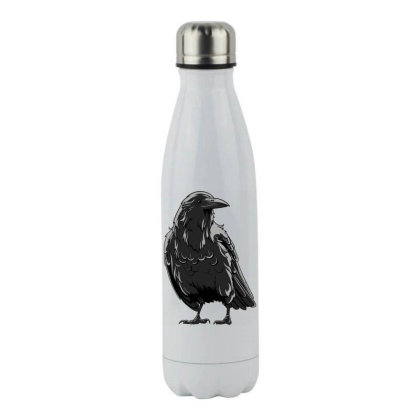 Black Crow Stainless Steel Water Bottle Designed By Estore