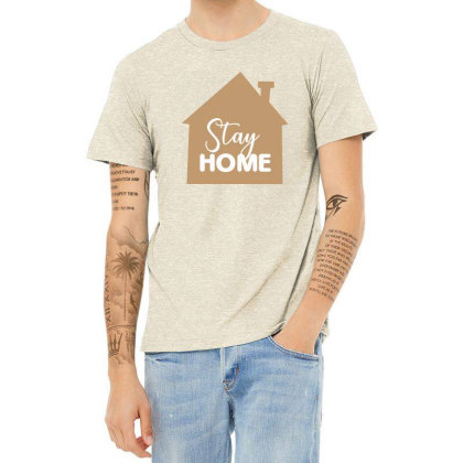 Stay Home Heather T-shirt Designed By Estore