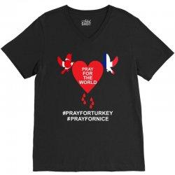 Pray For The World - Turkey - Nice V-Neck Tee   Artistshot