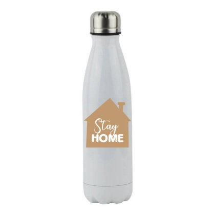 Stay Home Stainless Steel Water Bottle Designed By Estore