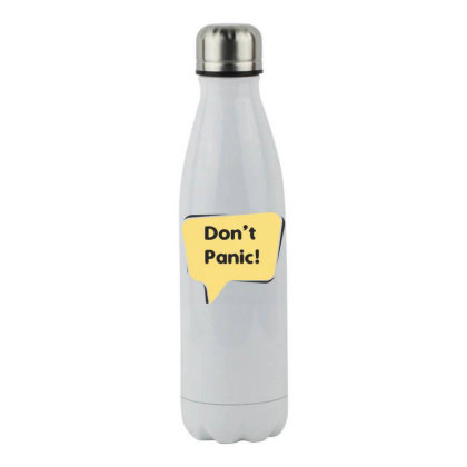 Don't Panic Stainless Steel Water Bottle Designed By Estore