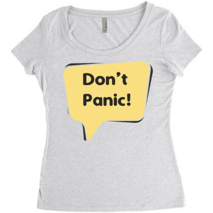 Don't Panic Women's Triblend Scoop T-shirt Designed By Estore